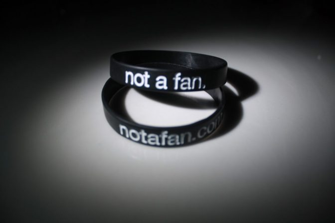 Not a Fan Wristband (Pack of 5)-57