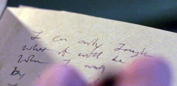 "The words to ""I Can Only Imagine"" written by Bart Millard"